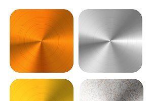 Bronze, gold, silver metals plates