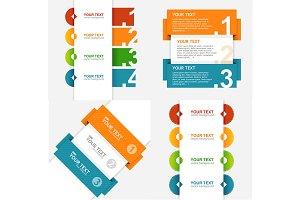 Infographics Menu Set. Vector