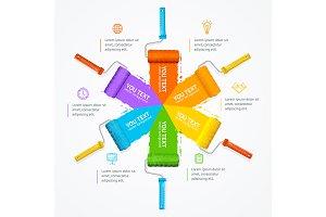 Roller Brush Infographic Menu.