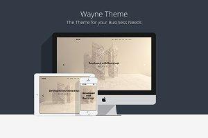 Wayne - Bootstrap HTML5 Theme