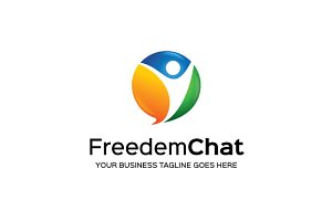 Freedem Chat Logo Template