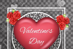 Greeting Card Template Valentine Day