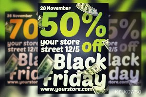 Black Friday Simple Flyer Template