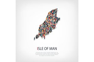 people map country Isle of Man vector