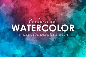 Watercolor Backgrounds & Bonus