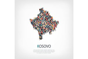 people map country Kosovo vector
