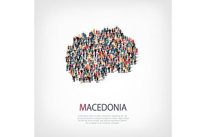 people map country Macedonia vector