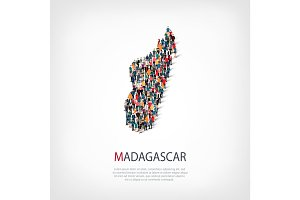 people map country Madagascar vector