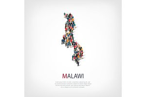 people map country Malawi vector