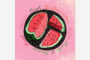 Hand Drawn Watermelon