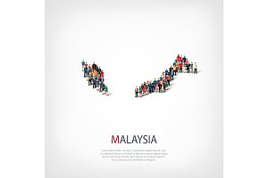 people map country Malaysia vector