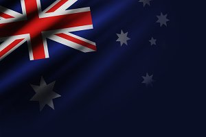 Australia flag background