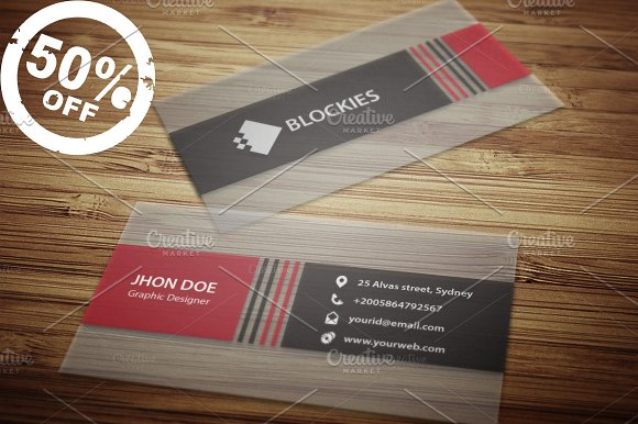 Semi transparent business card business card templates semi transparent business card business cards reheart Image collections