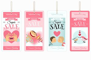 Valentines Tags Sale