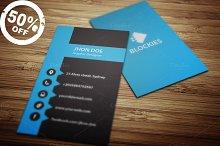 Vertical Business Card Template V.1