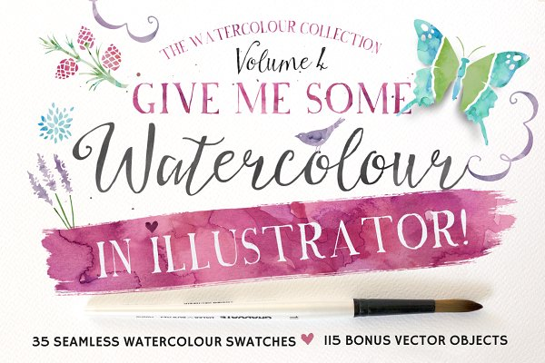 Palettes: Nicky Laatz - Give me Watercolour in Illustrator!