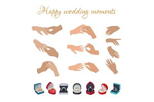 Happy Wedding Moments Rings on Fingers Collection