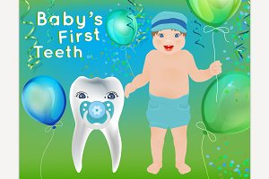 Baby's First Tooth Card