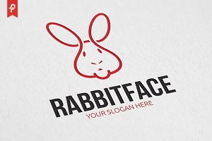 Rabbit Face Logo