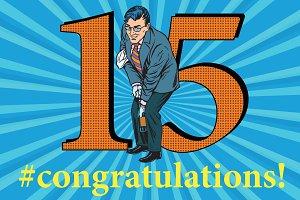 Congratulations 15 anniversary event celebration