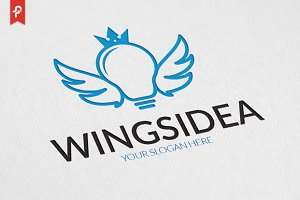 Wings Idea Logo