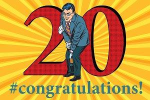 Congratulations 20 anniversary event celebration