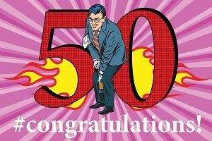 Congratulations 50 anniversary event celebration