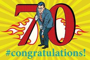 Congratulations 70 anniversary event celebration