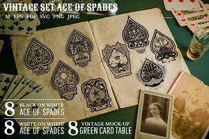 Vintage set ACE OF SPADES