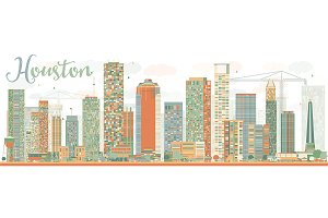 Abstract Houston Skyline