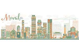 Abstract Manila Skyline