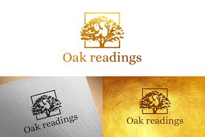 Oak Readings logo design template