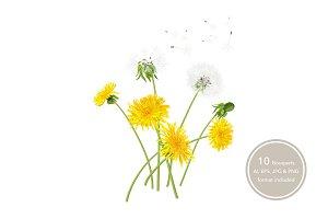Dandelion Bouquets.