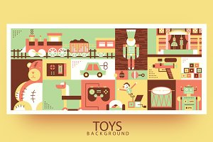 Children toys background
