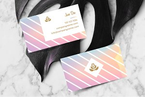 Feminine business card template
