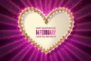 4 postcards Valentine's day