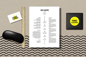 Carter - Resume template Illustrator