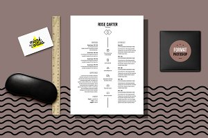 Carter - Resume template Photoshop