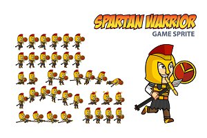 Spartan Warrior Game Sprite