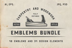 Vintage Carpentry Emblems part 1