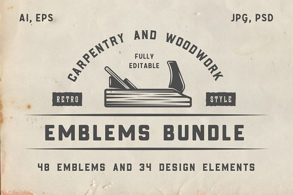 Vintage Carpentry Emblems Bundle