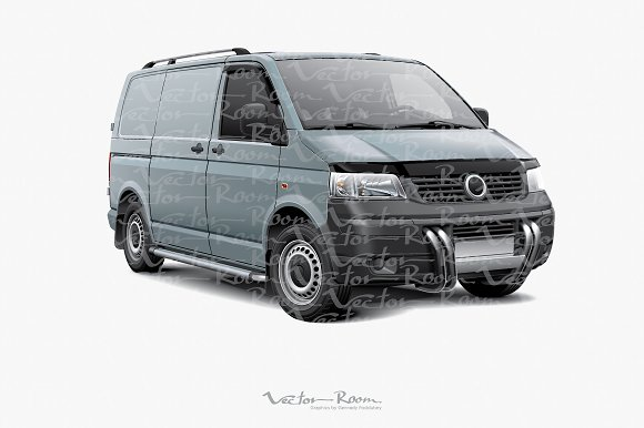 Two Cargo Panel Vans in Illustrations - product preview 2