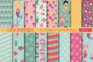 Cutie mermaids paper