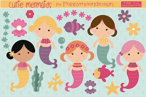 Cutie Mermaids clipart