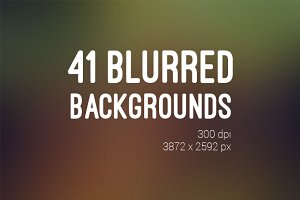 41 Blurred Backrounds