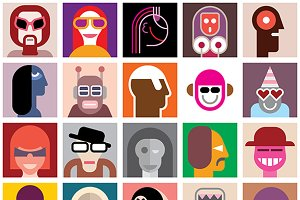 People portrait set