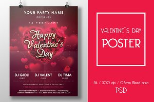 Valentine`s Day Party Flyer