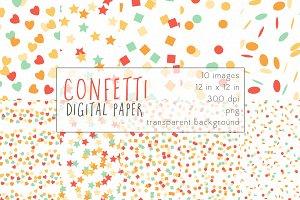 Confetti Digital Paper