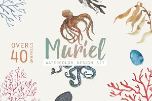 Watercolor Design Set | Muriel