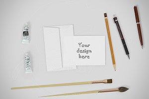 Greeting card mockup creator PSD